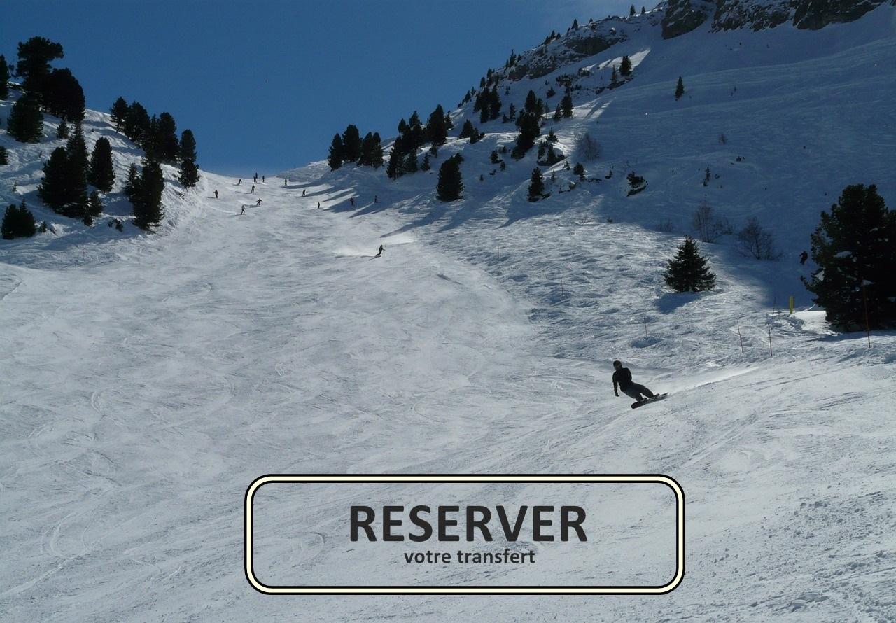transfert station snowboard réserver