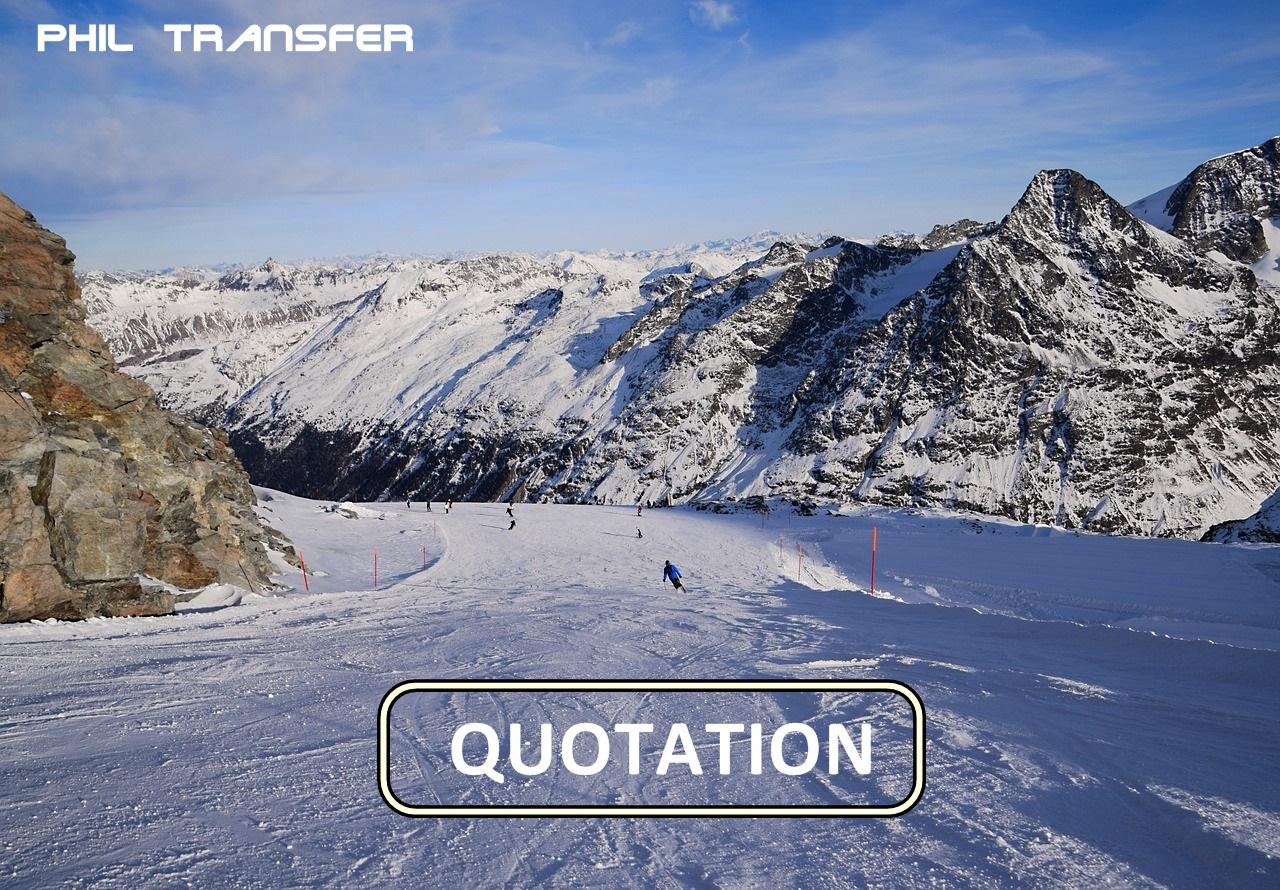 ski resort transfer quote