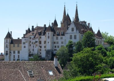 "Neuchatel Excursion. Hiking along the ""Sentier du Temps"". Discover the city, its history, its monuments, its streets accompanied by your private guide."