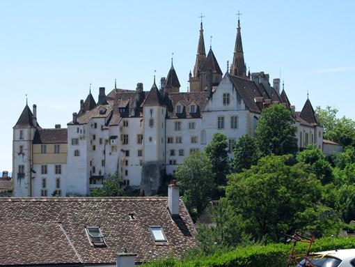 Vue du château excursion Neuchâtel