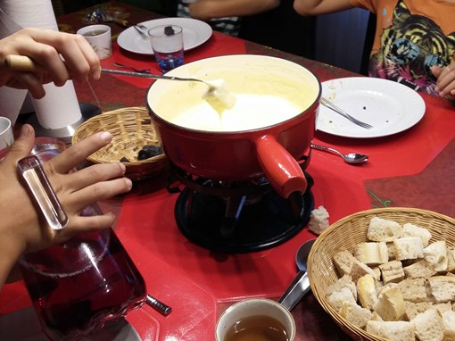Excursion Fondue fromage gruyeres